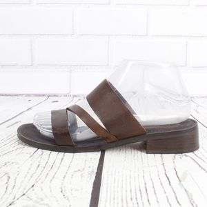 Enzo Angiolini Gorgeous Brown Leather Sandals Sz 7
